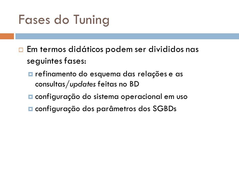 Fases do Tuning Em termos didáticos podem ser divididos nas seguintes fases: