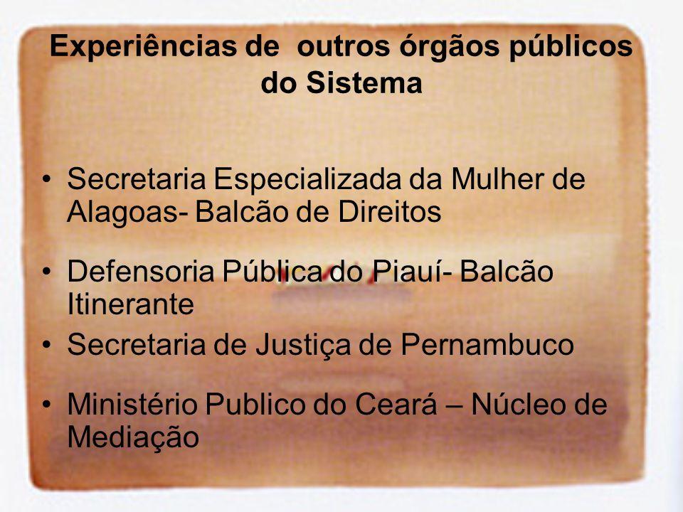 Experiências de outros órgãos públicos do Sistema
