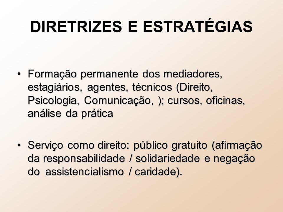 DIRETRIZES E ESTRATÉGIAS