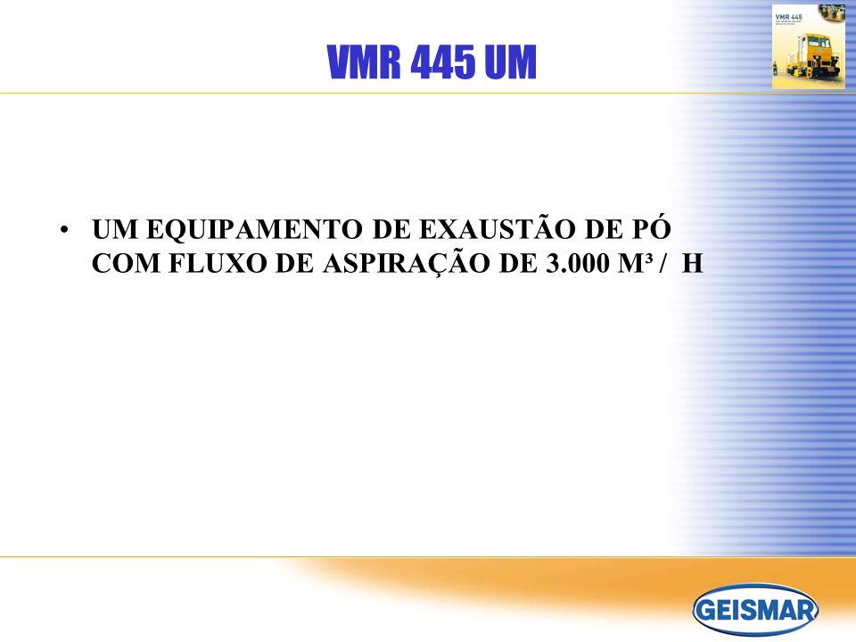 VMR 445 UM UM EQUIPAMENTO DE EXAUSTÃO DE PÓ COM FLUXO DE ASPIRAÇÃO DE 3.000 M³ / H