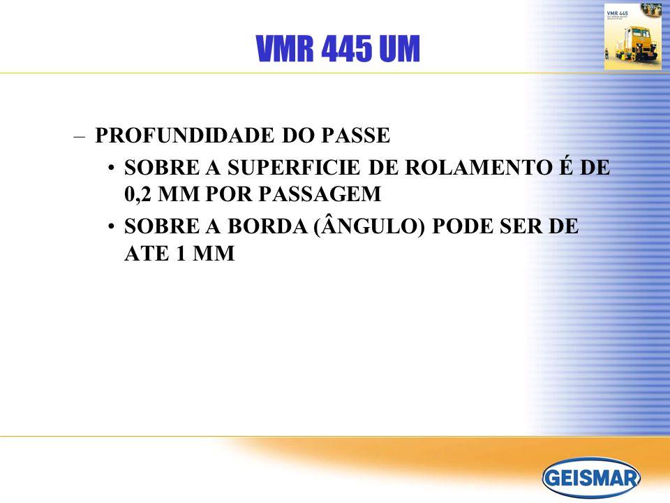 VMR 445 UM PROFUNDIDADE DO PASSE