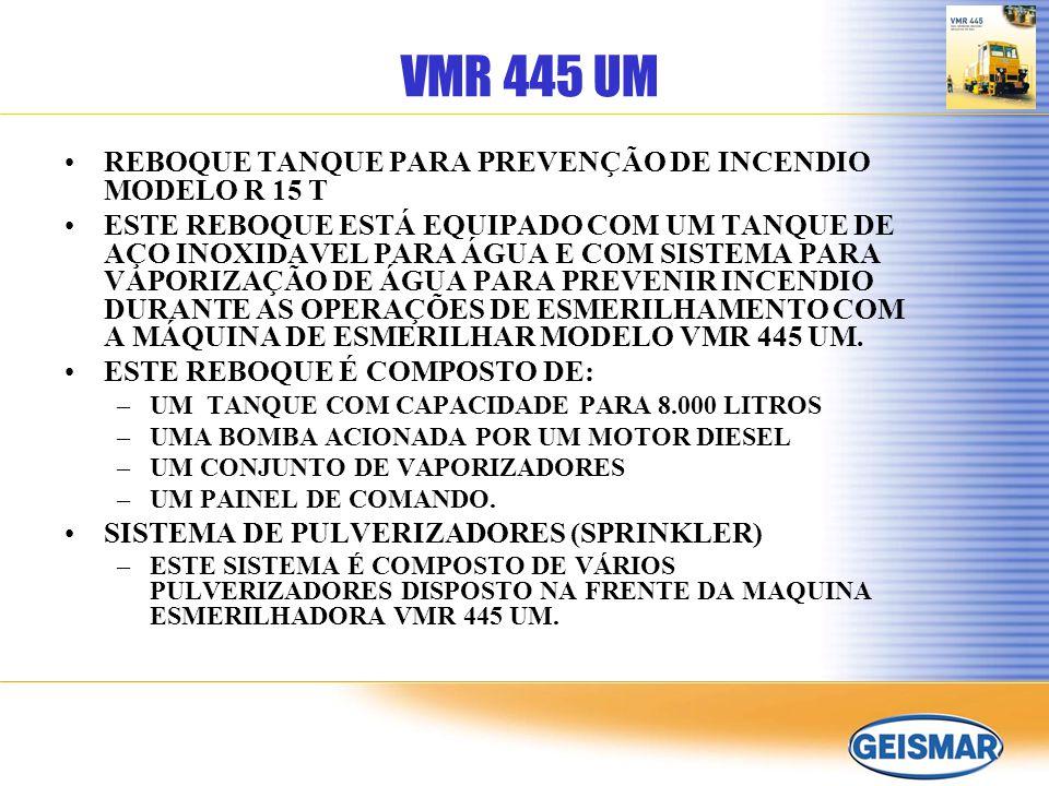 VMR 445 UM REBOQUE TANQUE PARA PREVENÇÃO DE INCENDIO MODELO R 15 T