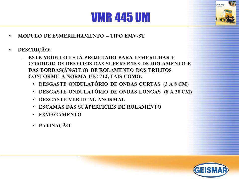 VMR 445 UM MODULO DE ESMERILHAMENTO – TIPO EMV-8T DESCRIÇÃO: