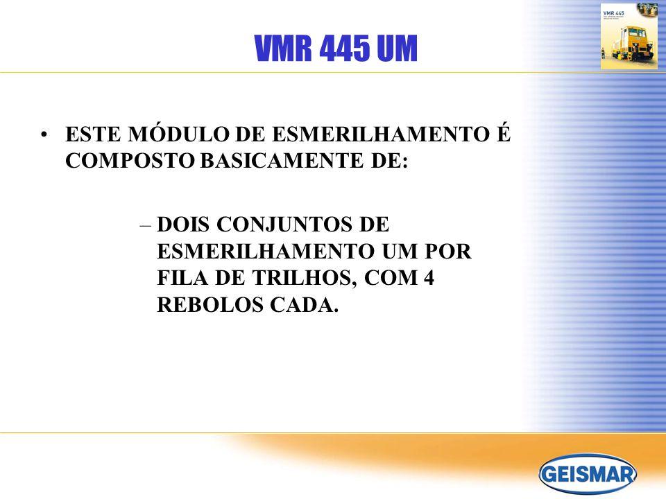 VMR 445 UM ESTE MÓDULO DE ESMERILHAMENTO É COMPOSTO BASICAMENTE DE: