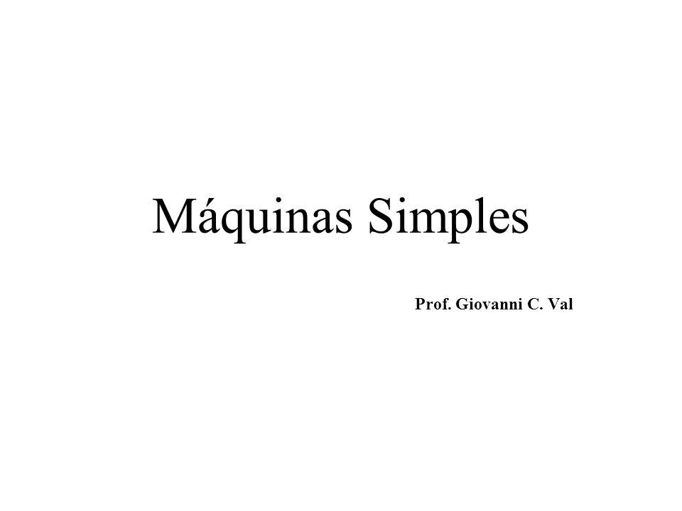 Máquinas Simples Prof. Giovanni C. Val