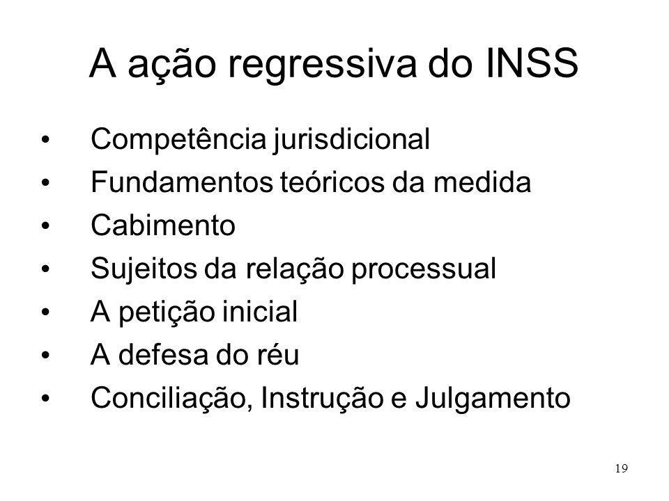 A ação regressiva do INSS