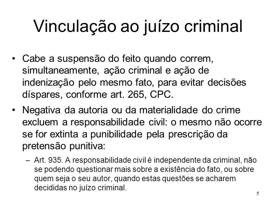 Vinculação ao juízo criminal