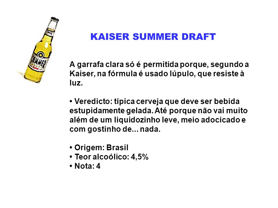KAISER SUMMER DRAFT
