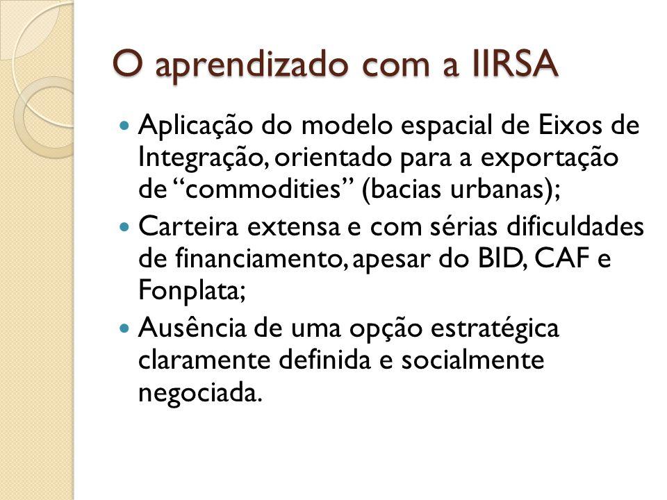 O aprendizado com a IIRSA
