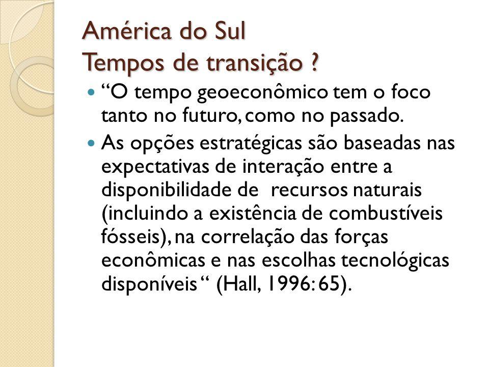 América do Sul Tempos de transição