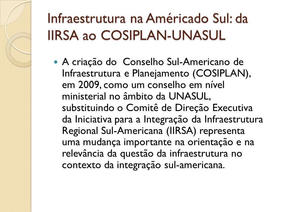 Infraestrutura na Américado Sul: da IIRSA ao COSIPLAN-UNASUL