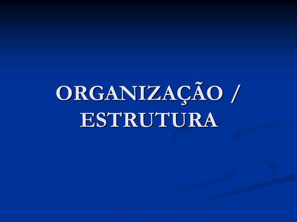 ORGANIZAÇÃO / ESTRUTURA