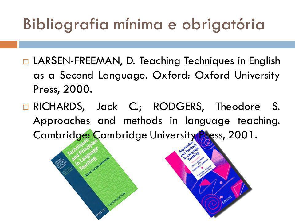 Bibliografia mínima e obrigatória