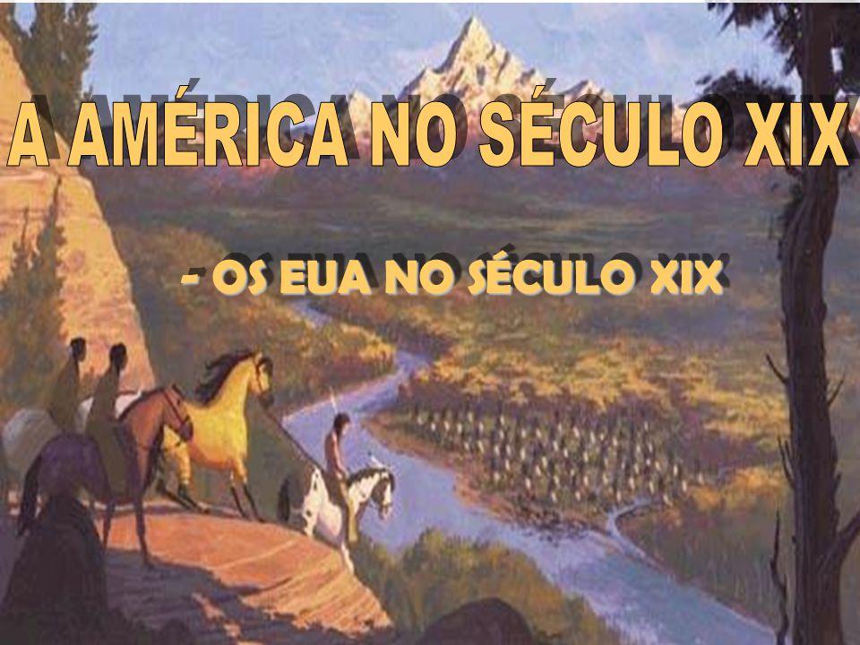 A AMÉRICA NO SÉCULO XIX - OS EUA NO SÉCULO XIX