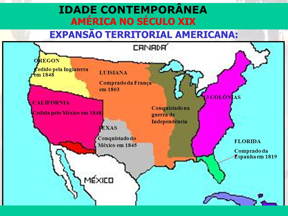 EXPANSÃO TERRITORIAL AMERICANA: