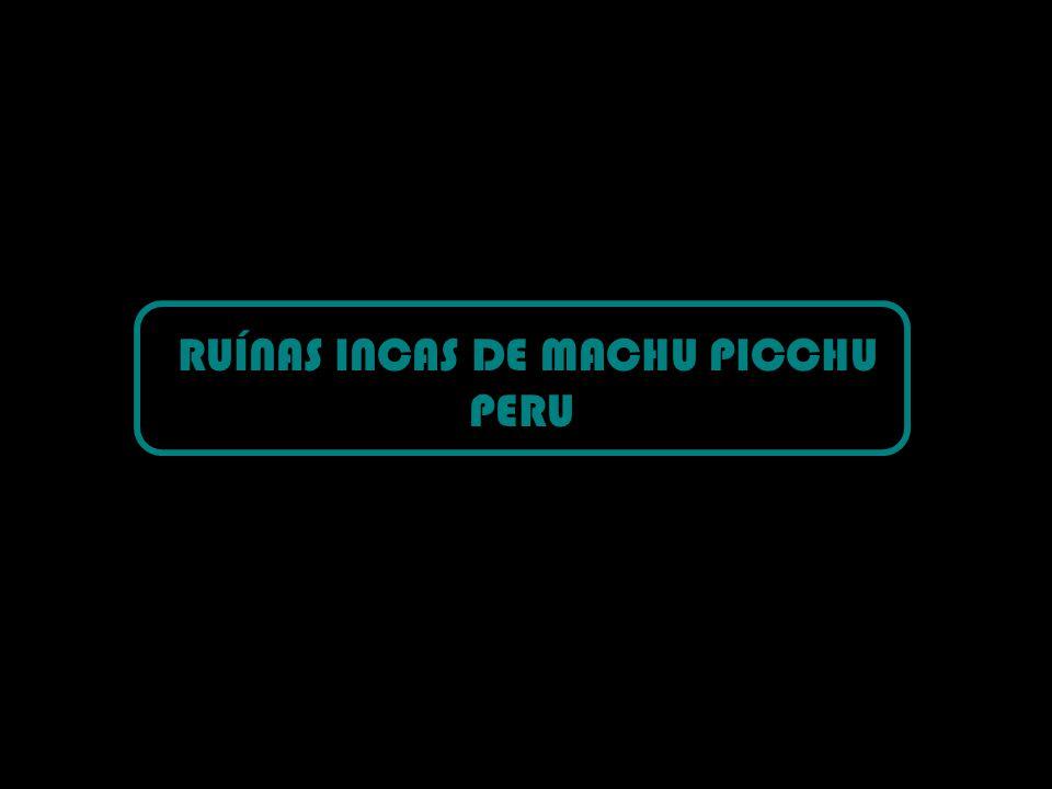 RUÍNAS INCAS DE MACHU PICCHU PERU