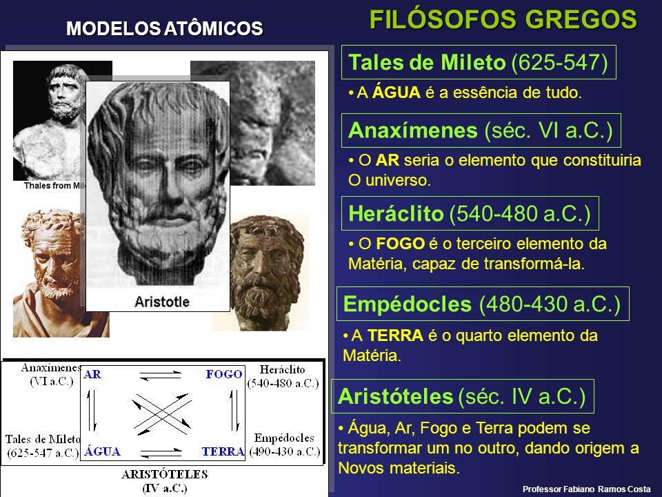 FILÓSOFOS GREGOS Tales de Mileto (625-547) Anaxímenes (séc. VI a.C.)