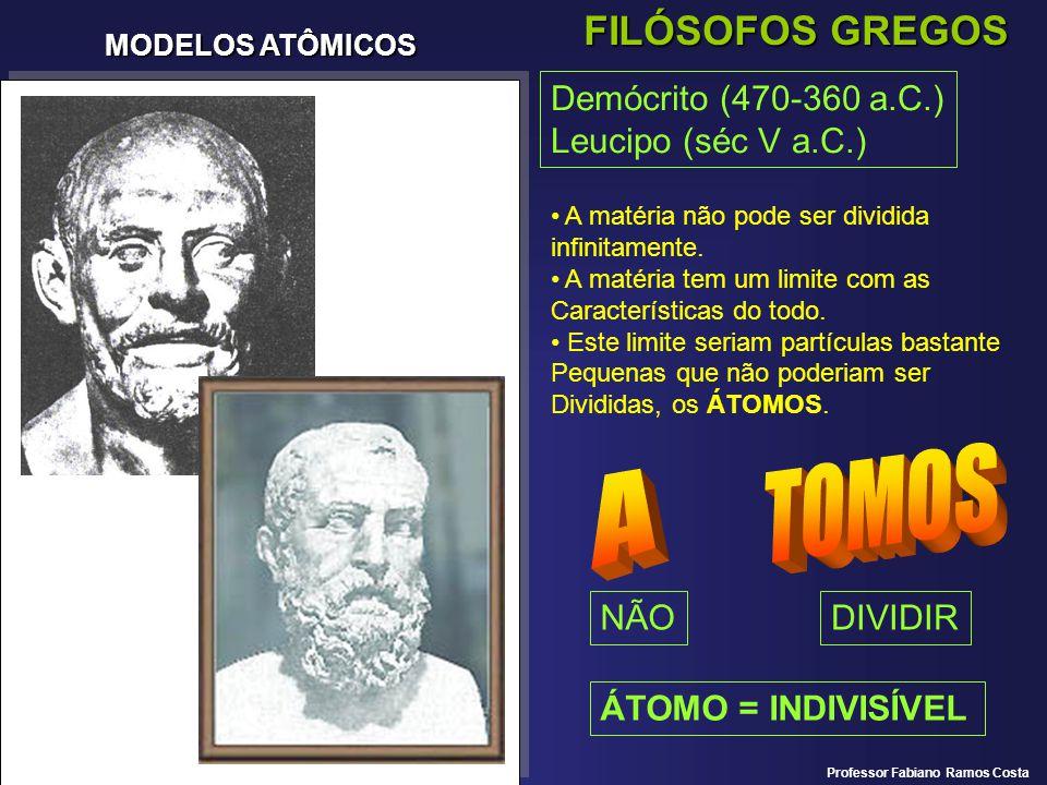 TOMOS A FILÓSOFOS GREGOS Demócrito (470-360 a.C.) Leucipo (séc V a.C.)