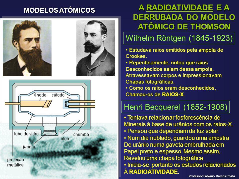 A RADIOATIVIDADE E A DERRUBADA DO MODELO ATÔMICO DE THOMSON
