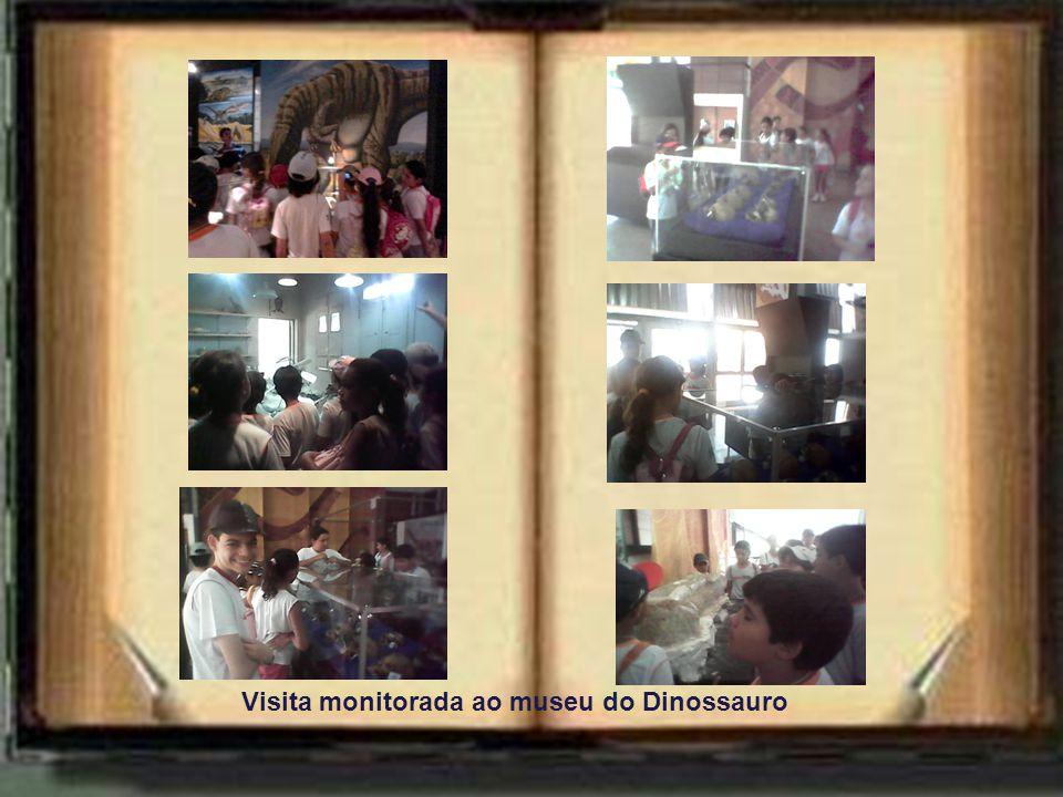 Visita monitorada ao museu do Dinossauro