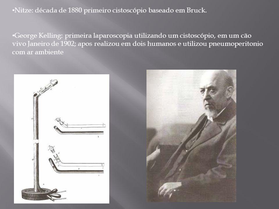 Nitze: década de 1880 primeiro cistoscópio baseado em Bruck.