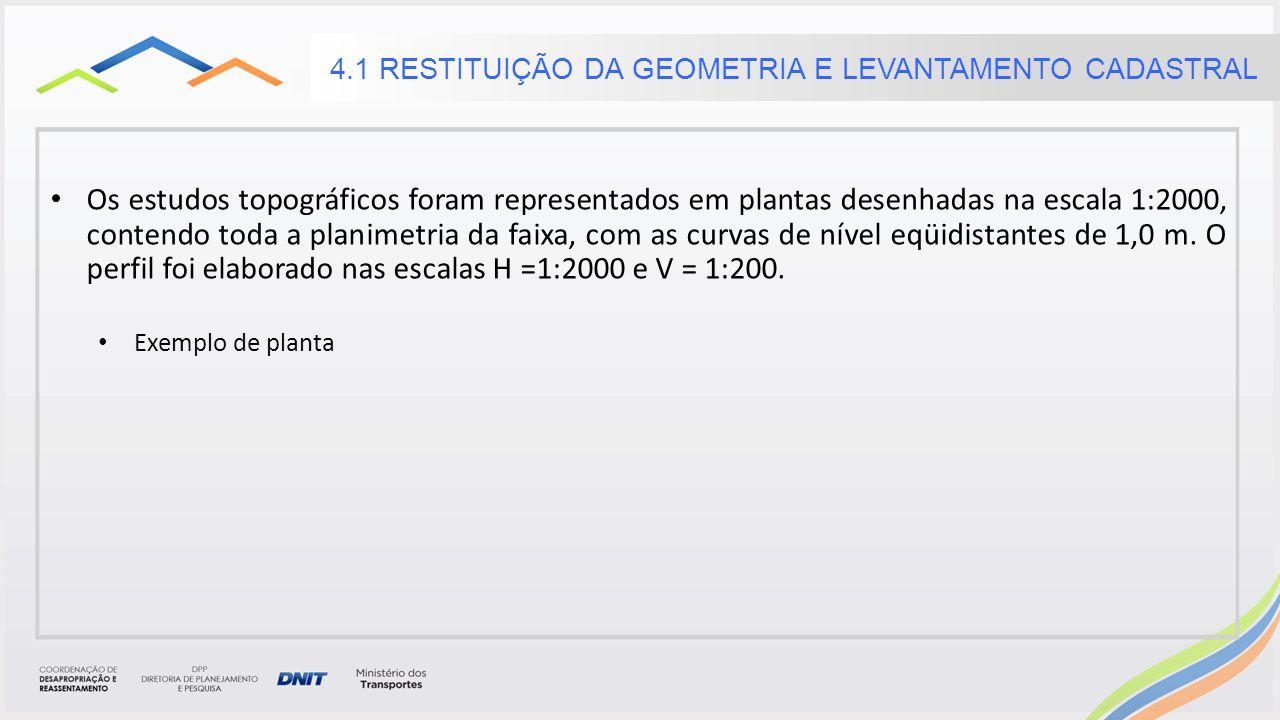 4.1 RESTITUIÇÃO DA GEOMETRIA E LEVANTAMENTO CADASTRAL