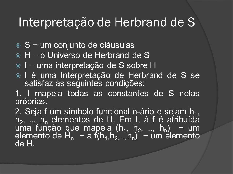 Interpretação de Herbrand de S