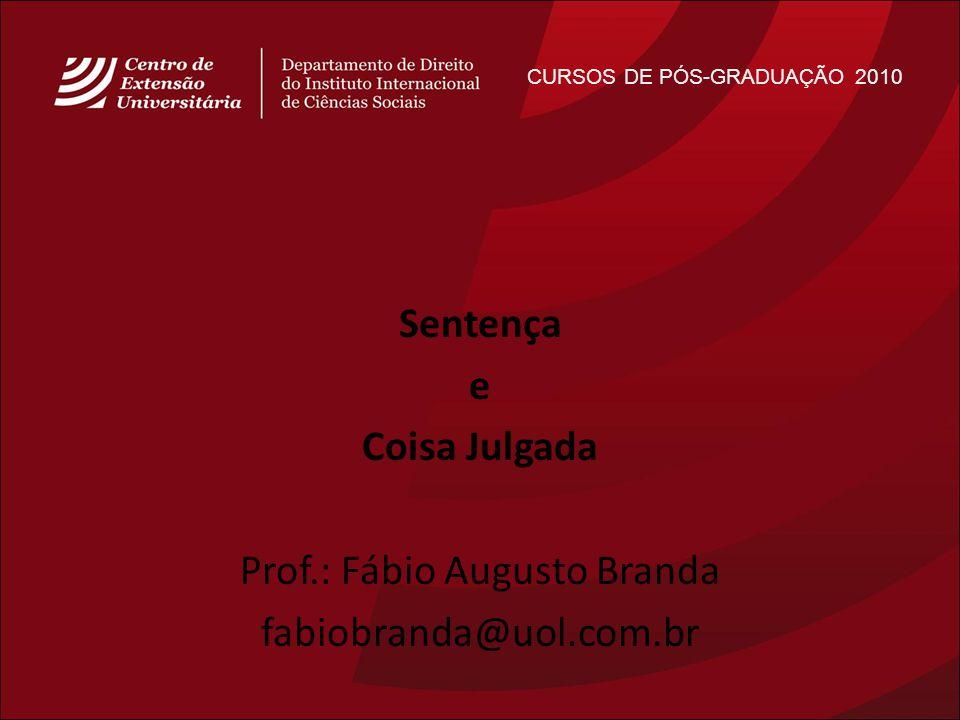 Prof.: Fábio Augusto Branda