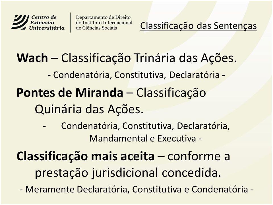 Wach – Classificação Trinária das Ações.