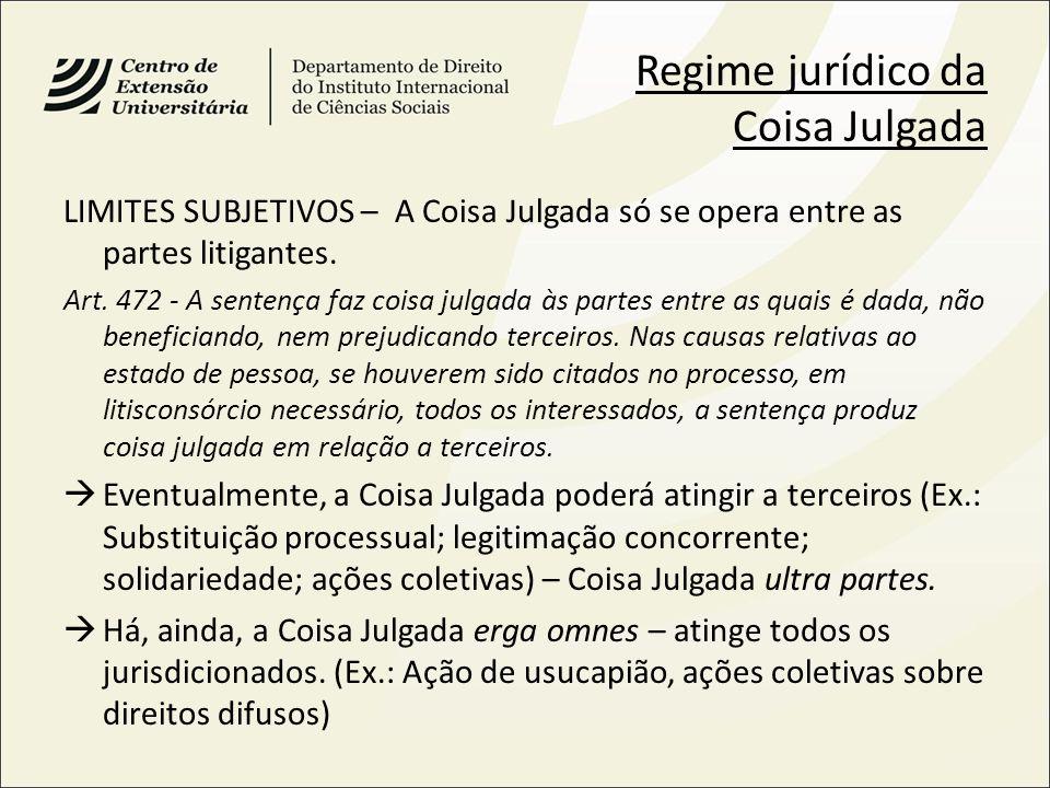 Regime jurídico da Coisa Julgada