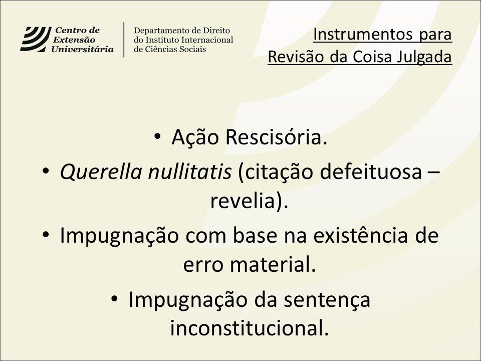 Querella nullitatis (citação defeituosa – revelia).