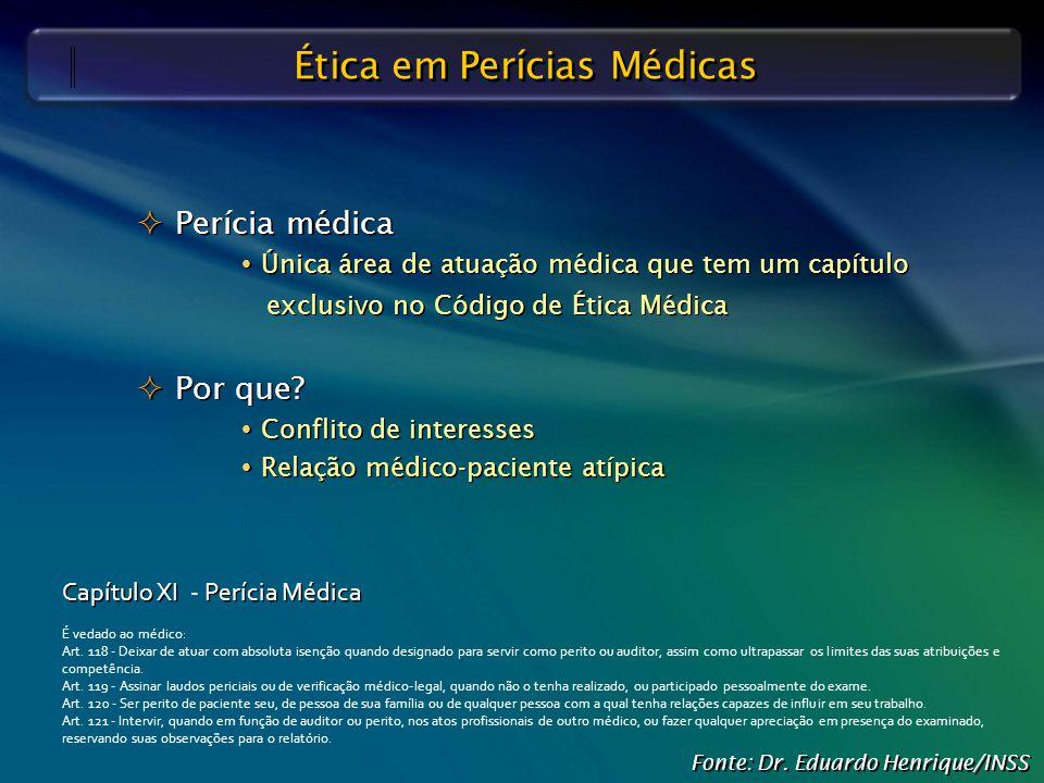Ética em Perícias Médicas