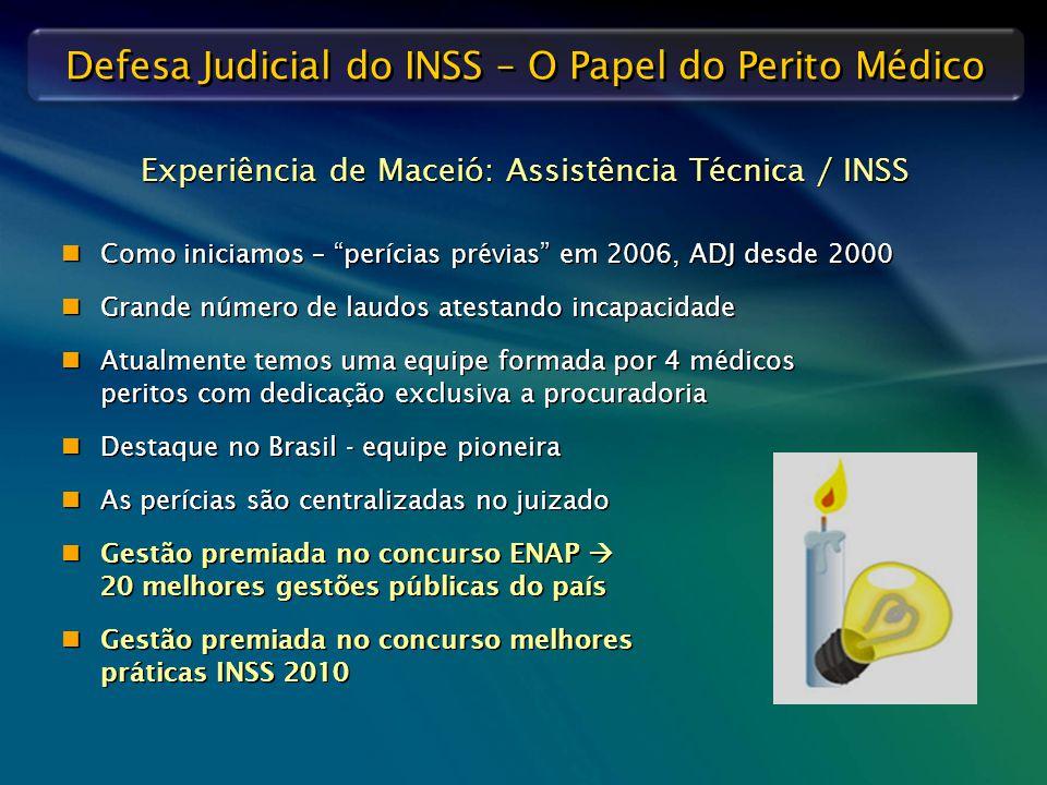 Experiência de Maceió: Assistência Técnica / INSS