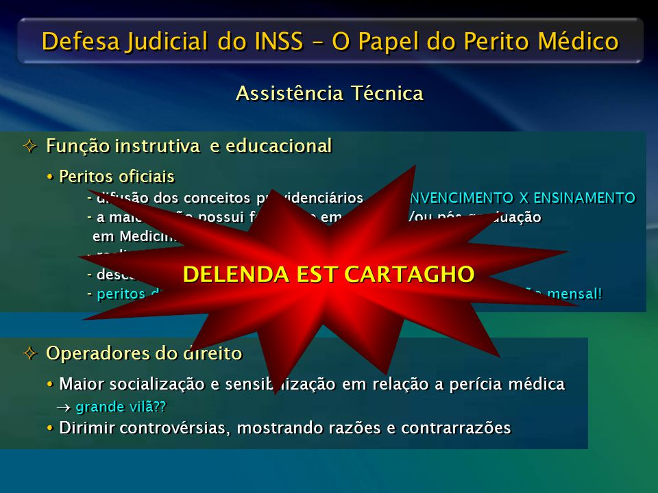 DELENDA EST CARTAGHO Assistência Técnica