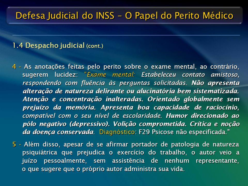 1.4 Despacho judicial (cont.)