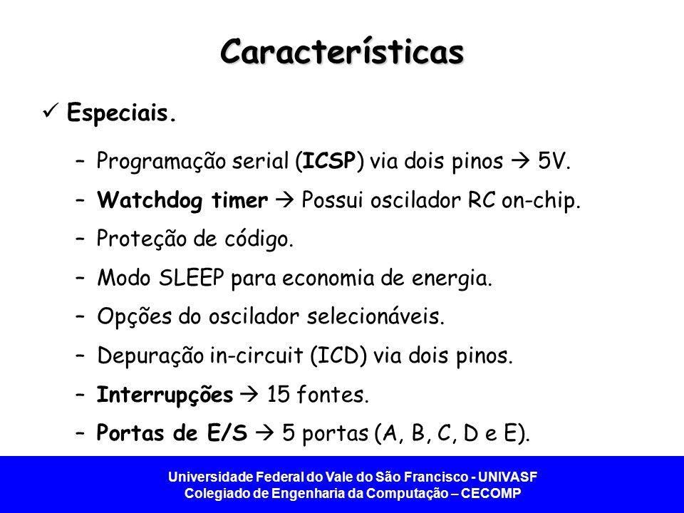 Características Especiais.
