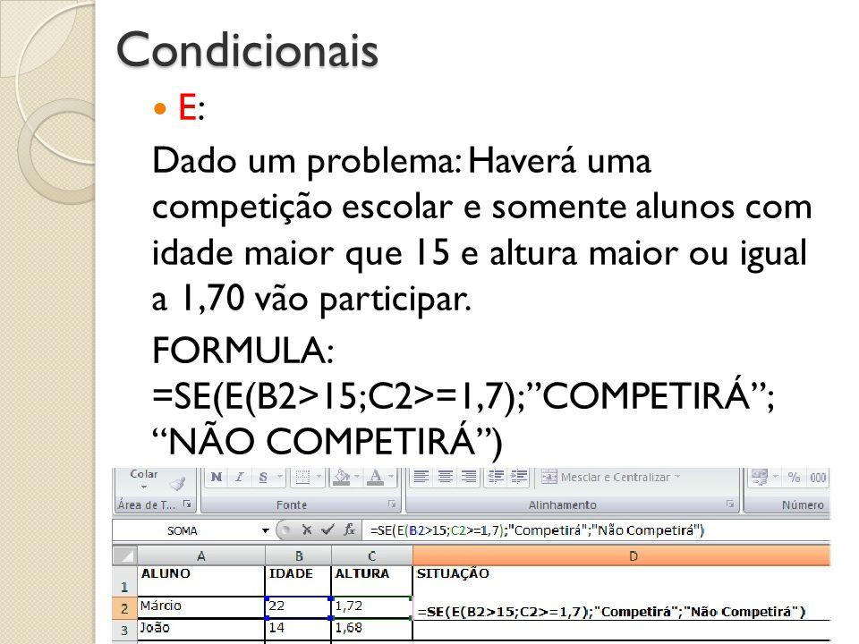 Condicionais E: