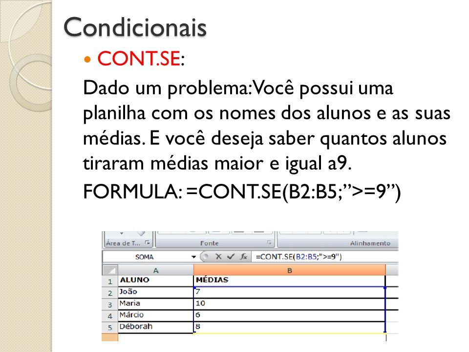 Condicionais CONT.SE: