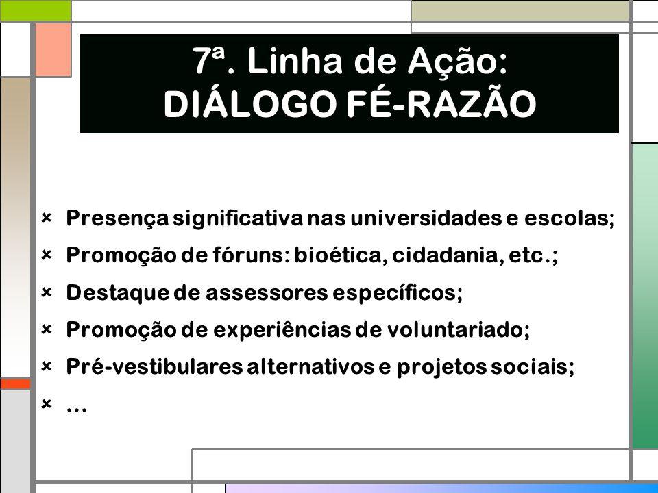 7ª. Linha de Ação: DIÁLOGO FÉ-RAZÃO