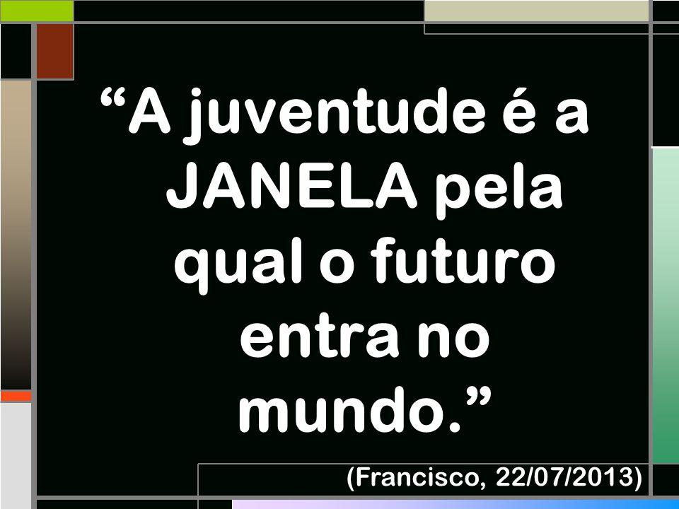 A juventude é a JANELA pela qual o futuro entra no mundo.