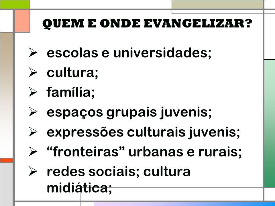 QUEM E ONDE EVANGELIZAR