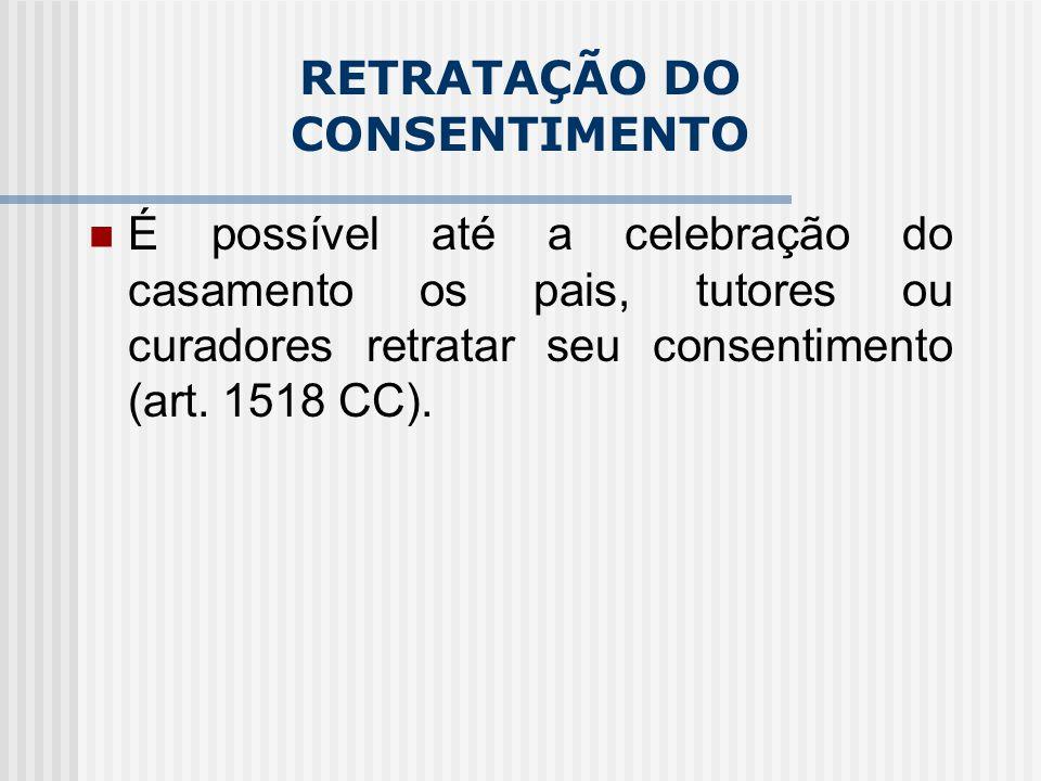 RETRATAÇÃO DO CONSENTIMENTO