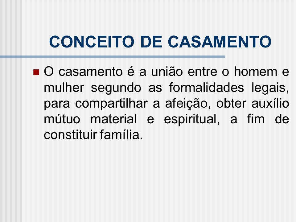 CONCEITO DE CASAMENTO