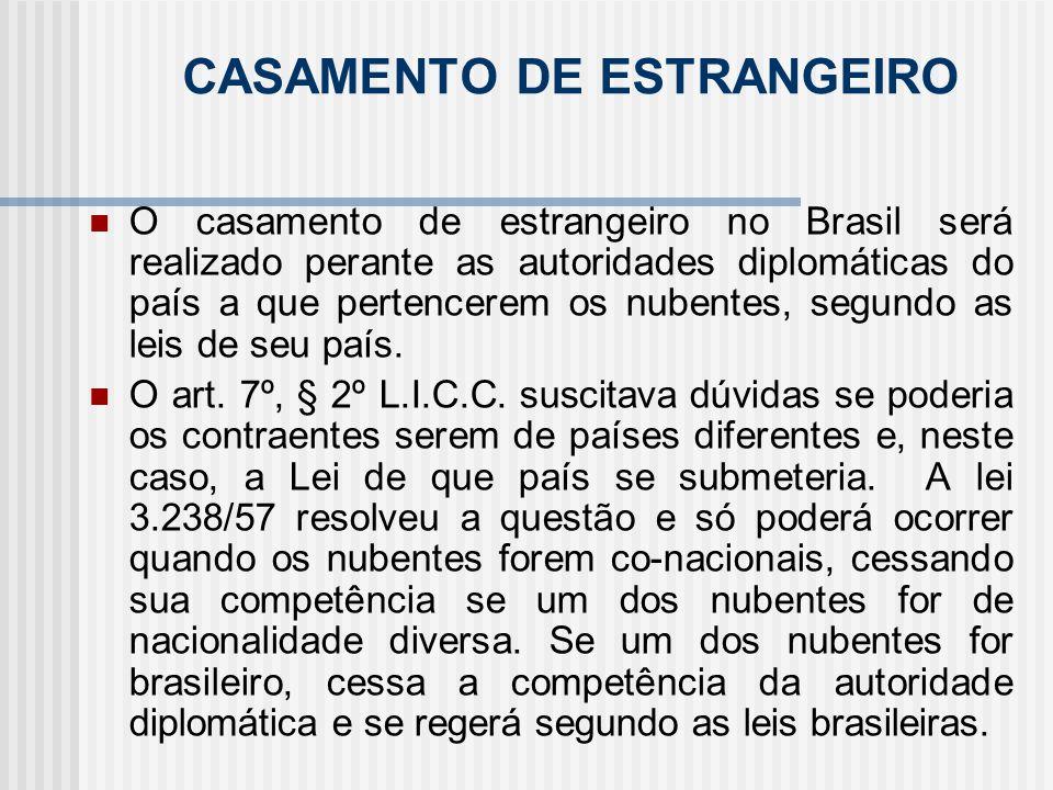 CASAMENTO DE ESTRANGEIRO