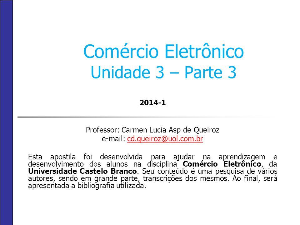 Comércio Eletrônico Unidade 3 – Parte 3