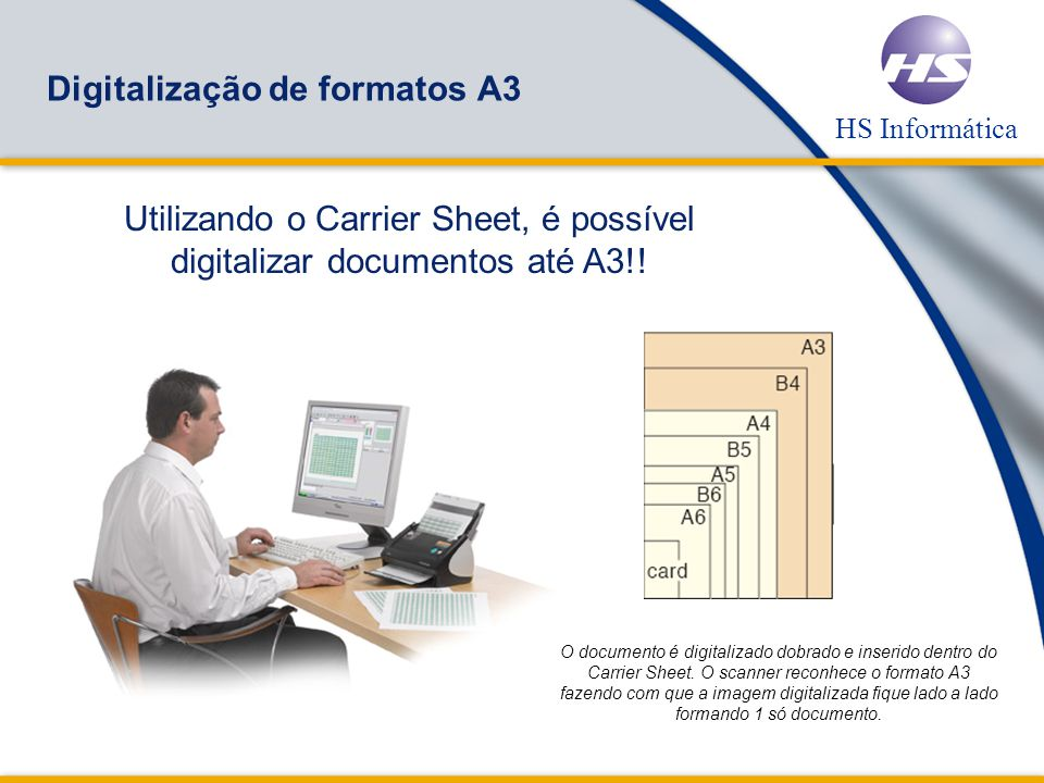 Digitalização de formatos A3