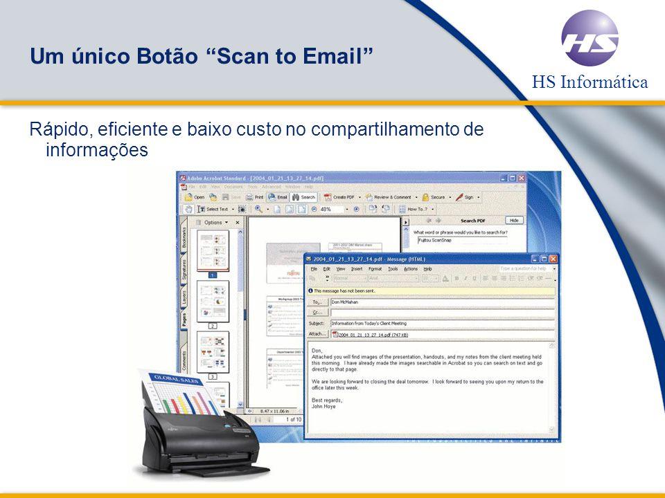 Um único Botão Scan to Email