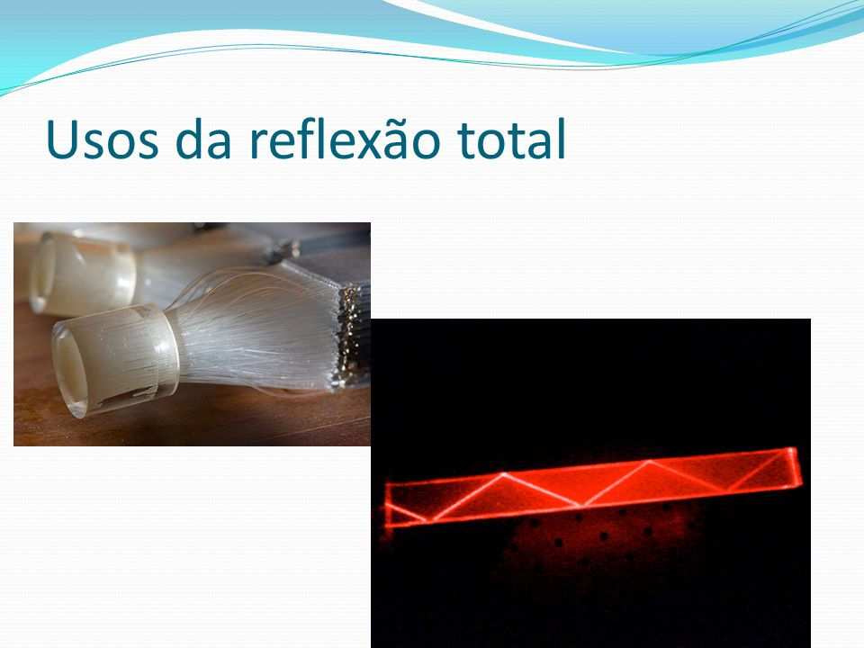 Usos da reflexão total bending light to do your will