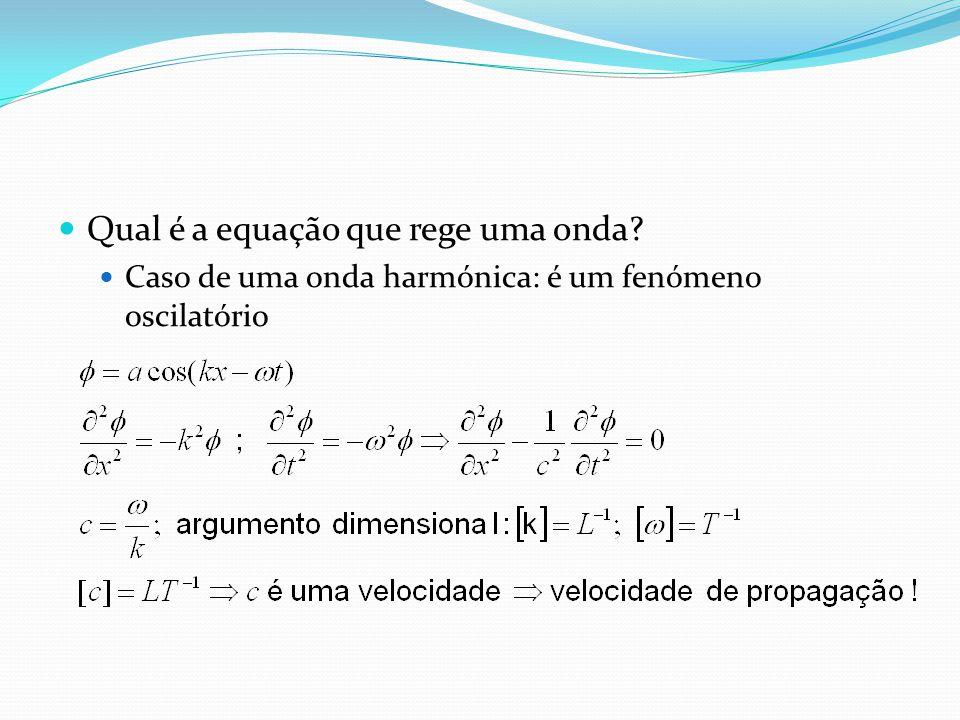 Qual é a equação que rege uma onda