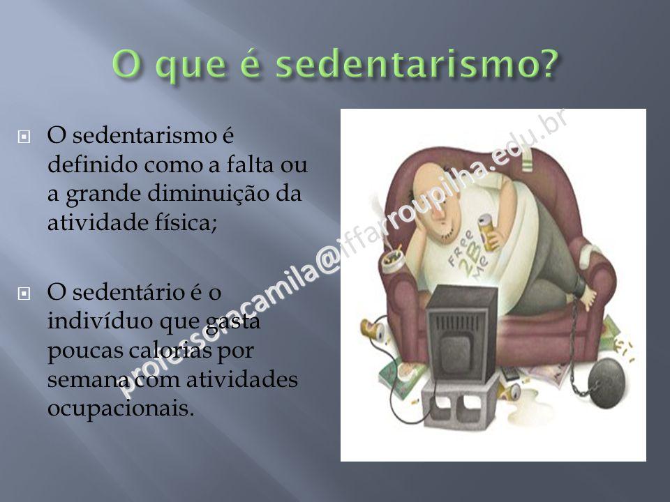 O que é sedentarismo professoracamila@iffarroupilha.edu.br